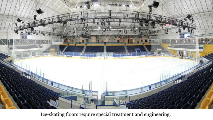 Ice-skating floors require special treatment and engineering