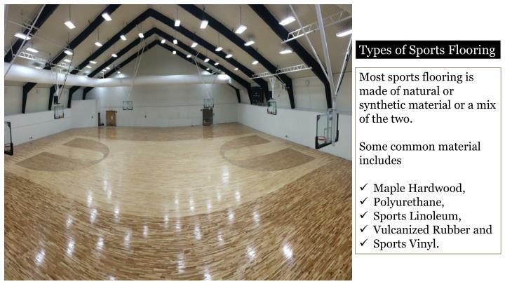 Types of Sports Flooring
