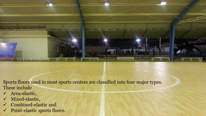 Sports floors used in most sports centers are classified into four major types.