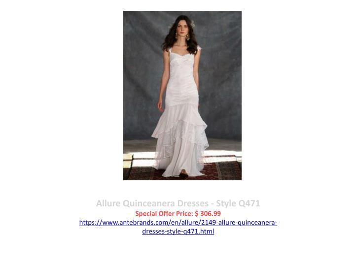 Allure Quinceanera Dresses - Style Q471
