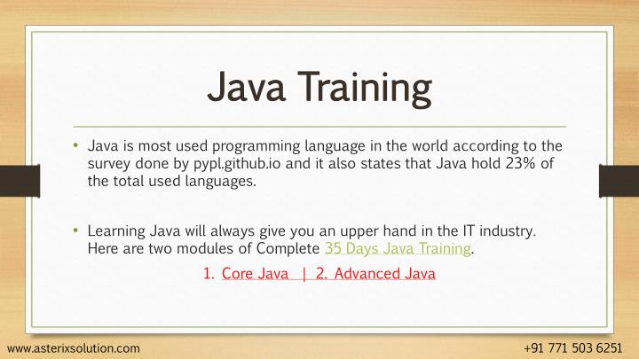 Java training1