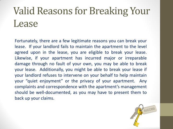 Valid Reasons for Breaking Your