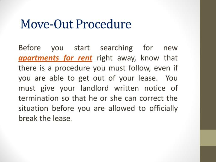 Move-Out Procedure
