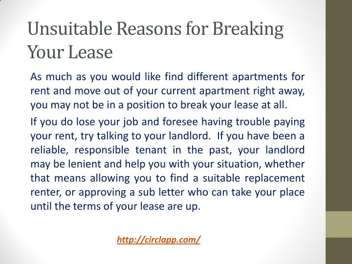 Unsuitable Reasons for Breaking