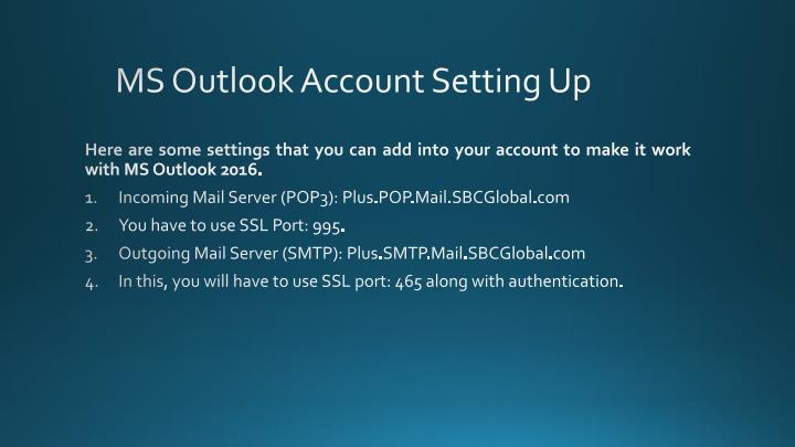 MS Outlook Account Setting Up