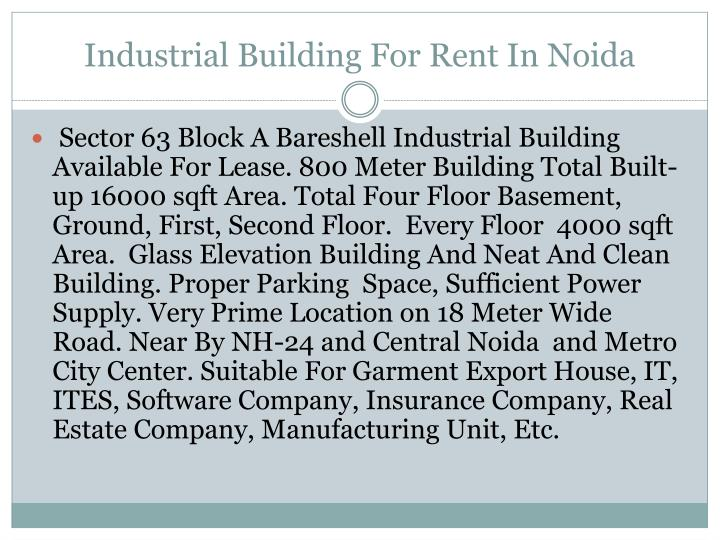 Industrial Building For Rent In