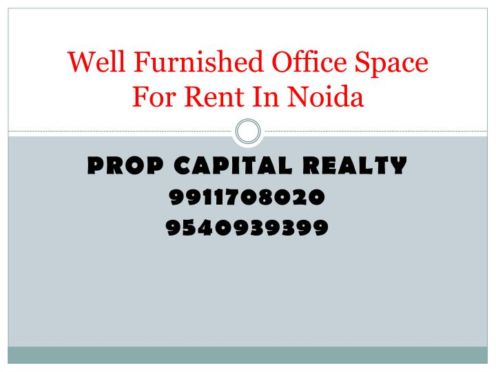 Well furnished office space for rent in noida