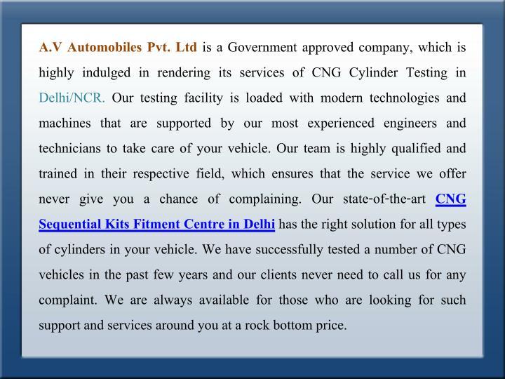 A.V Automobiles Pvt. Ltd