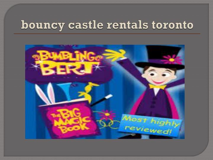 bouncy castle rentals toronto