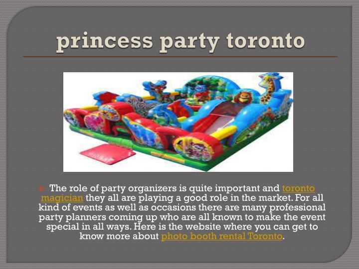 princess party toronto