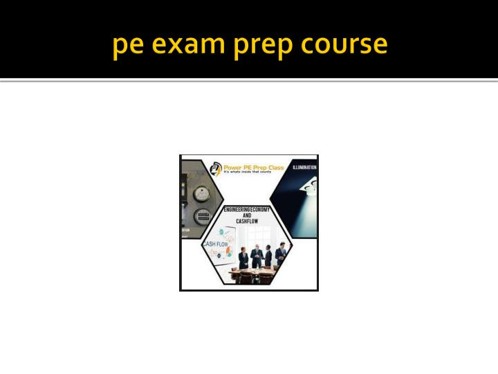 Pe exam prep course
