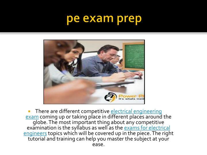 pe exam prep