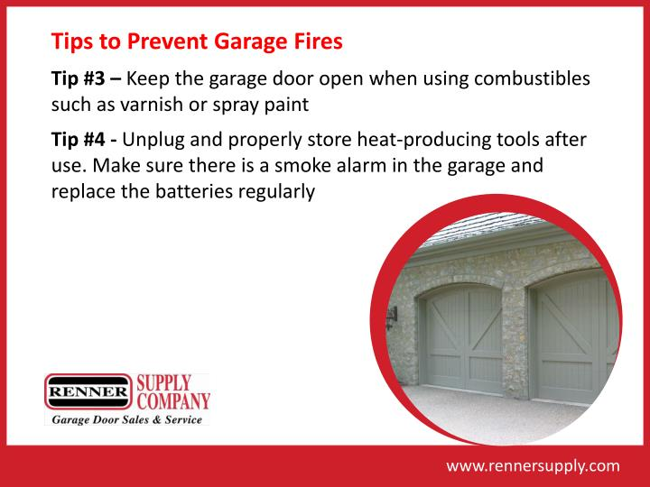 Tips to Prevent Garage Fires