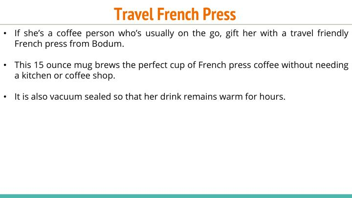 Travel French Press