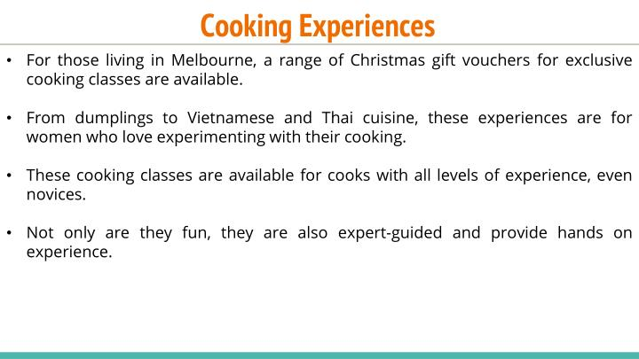 Cooking Experiences