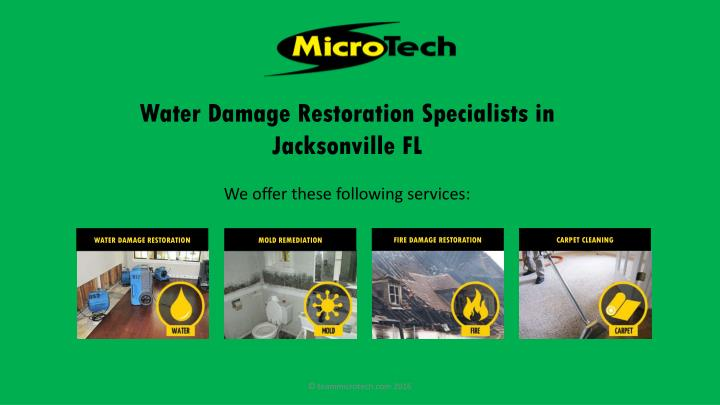 Water damage restoration specialists in jacksonville fl