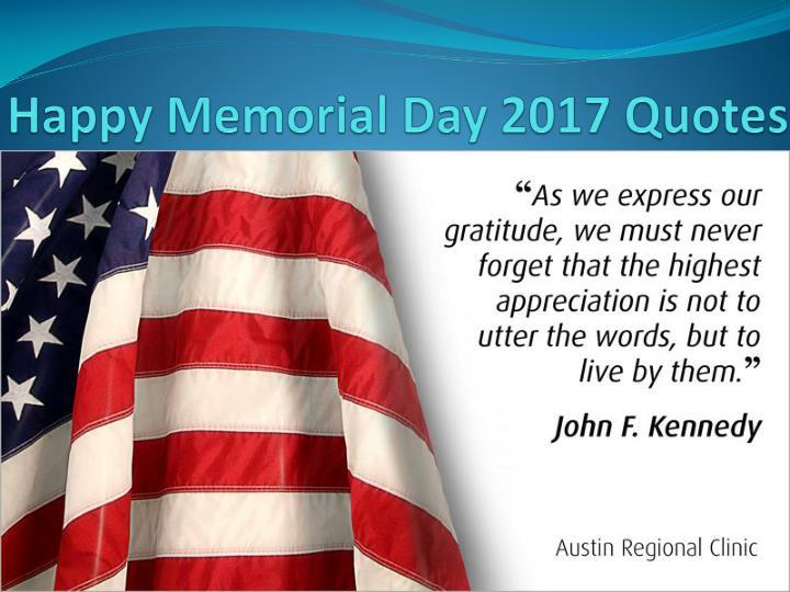 Happy Memorial Day 2017 Quotes
