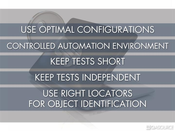 USE OPTIMAL CONFIGURATIONS
