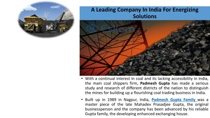 A leading company in india for energizing solutions