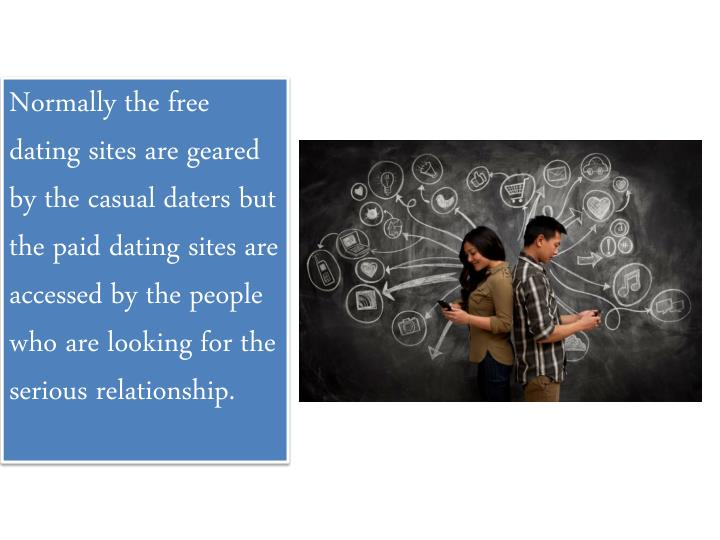 Normally the free dating sites are geared by the casual daters but the paid dating sites are accesse...