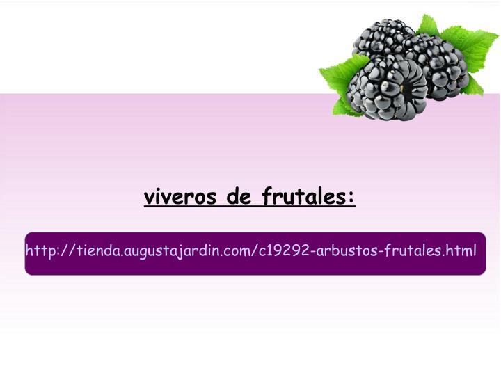 viveros de frutales: