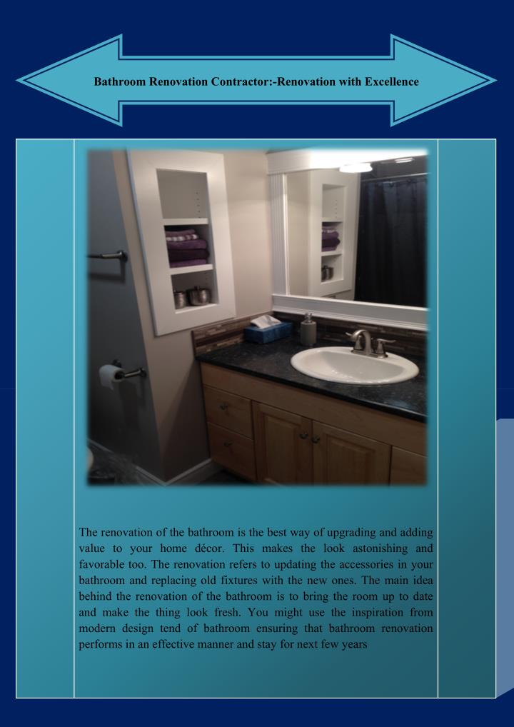 Ppt Bathroom Renovation Contractor Renovation With Excellence Powerpoint Presentation Id