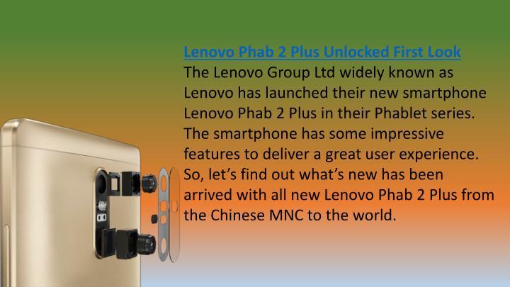 Lenovo Phab 2 Plus Unlocked First Look