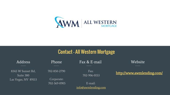 Contact - All Western Mortgage