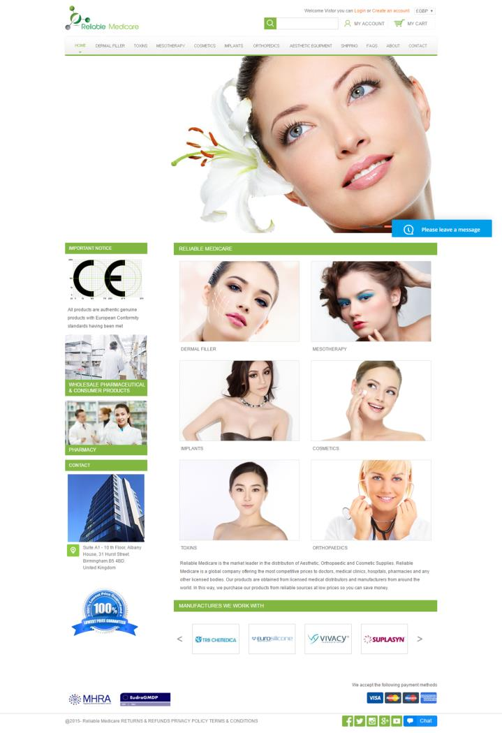 Reliable cosmetic supplies uk