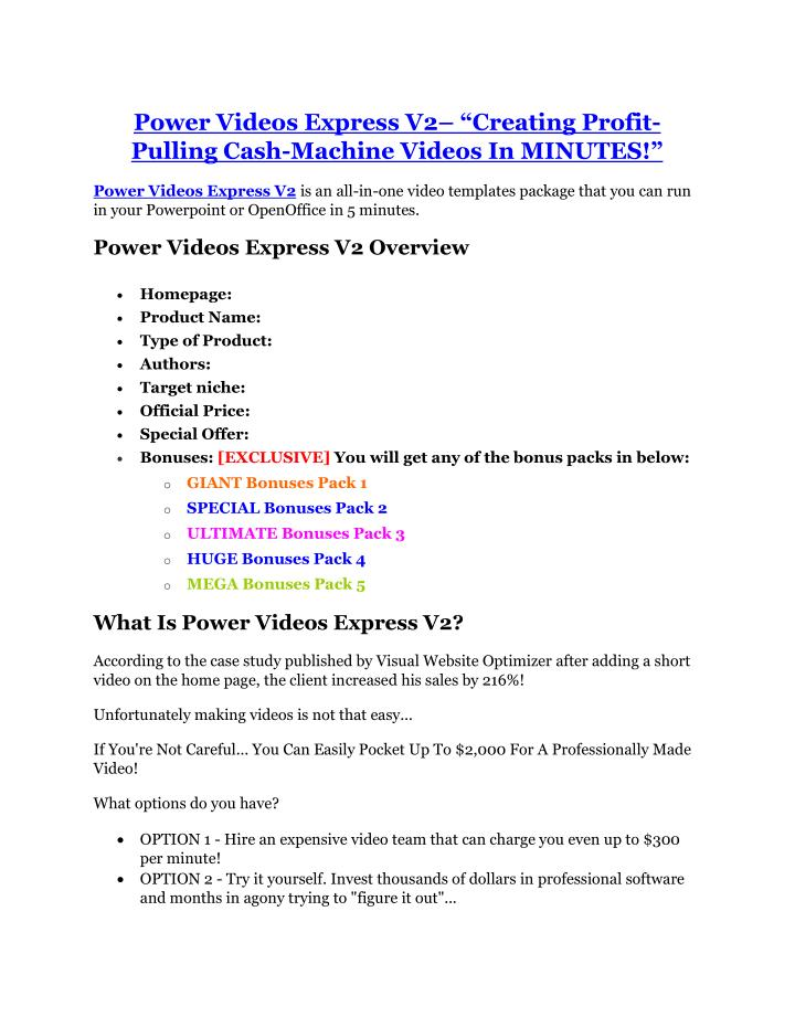 Power Videos Express V2