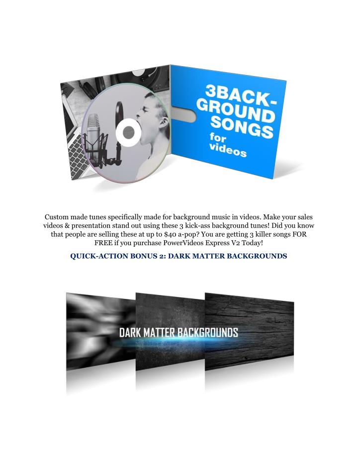 Custom made tunes specifically made for background music in videos. Make your sales