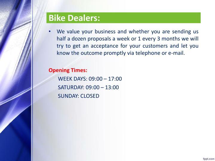 Bike Dealers: