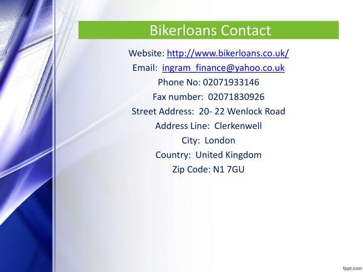 Bikerloans Contact