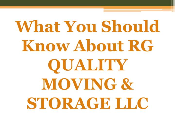 what you should know about rg quality moving storage llc