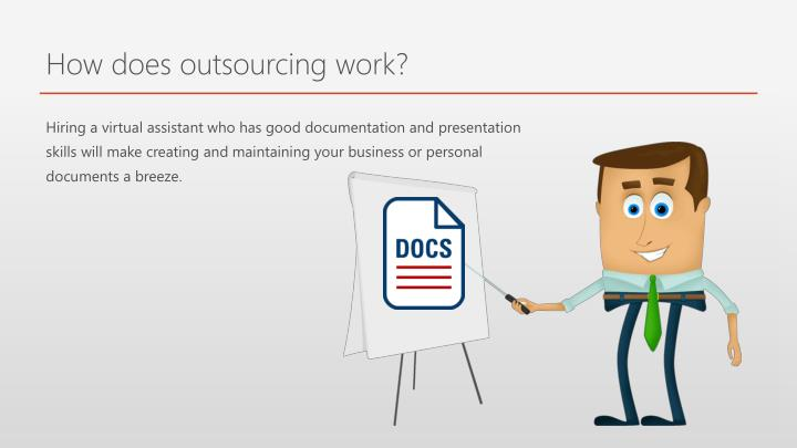 How does outsourcing work?