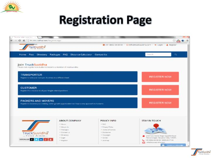 Registration Page