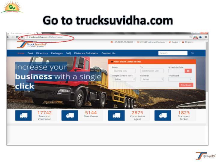 Go to trucksuvidha.com