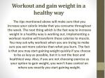 workout and gain weight in a healthy way