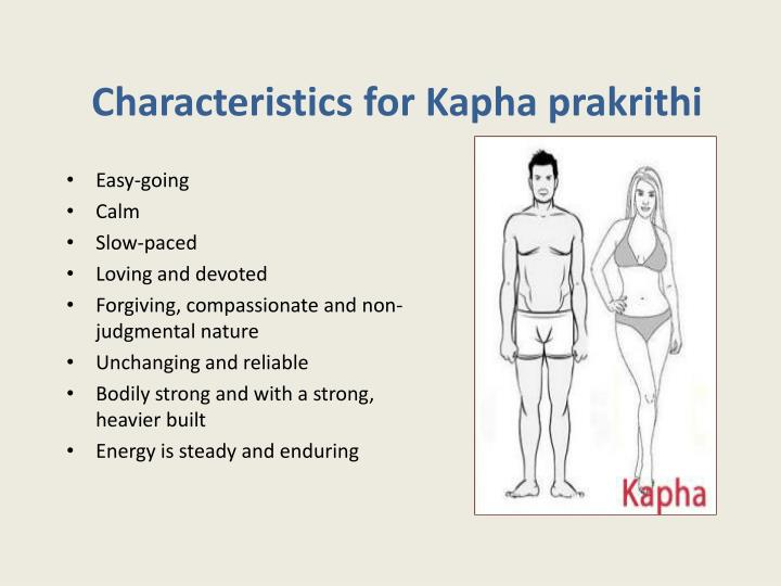 Characteristics for