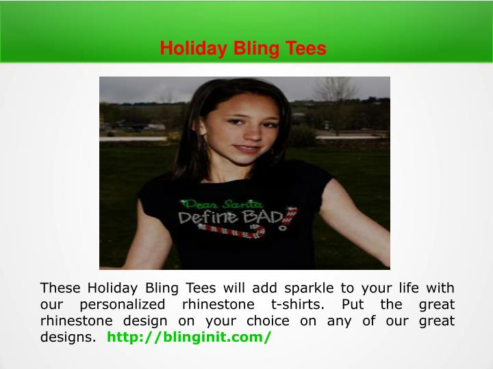 Holiday Bling Tees