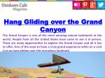 hang gliding over the grand canyon