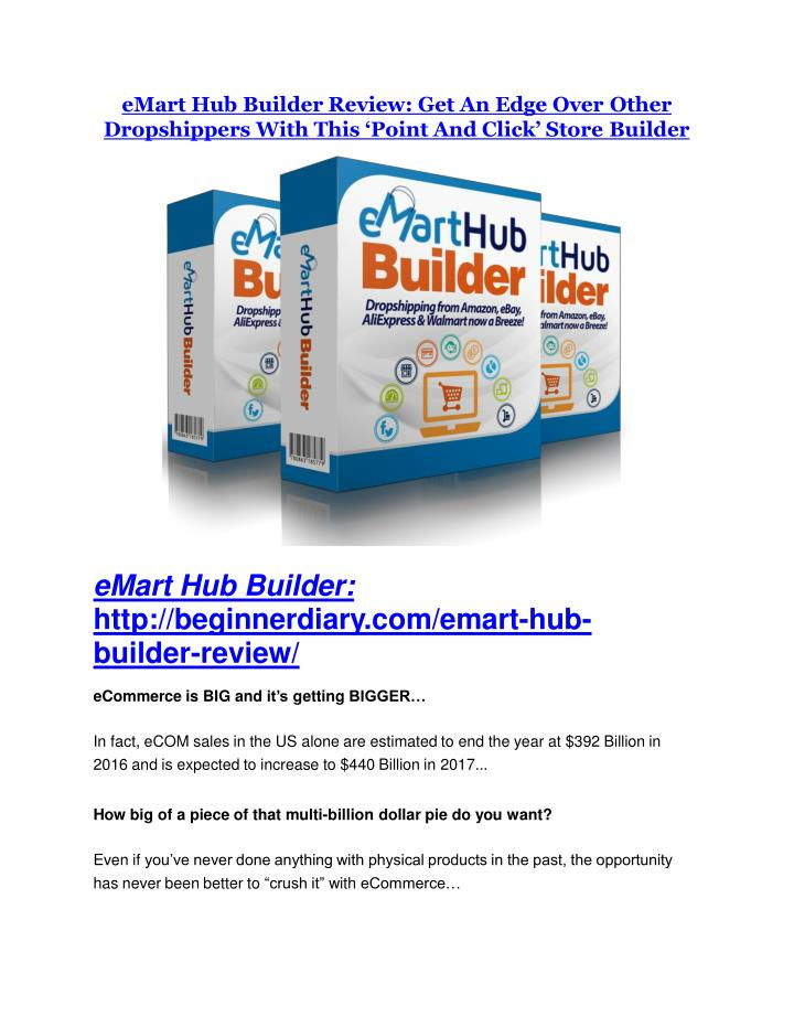 eMart Hub Builder Review: Get An