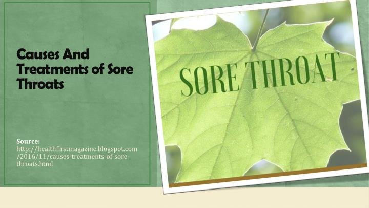 Causes And Treatments of Sore Throats