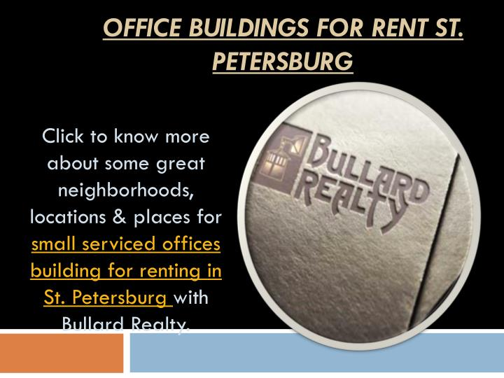 Office Buildings for Rent St. Petersburg