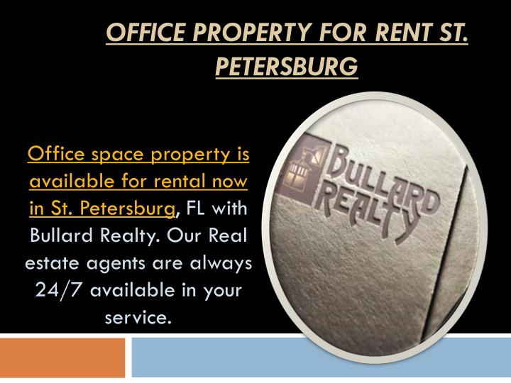 Office Property for Rent St. Petersburg