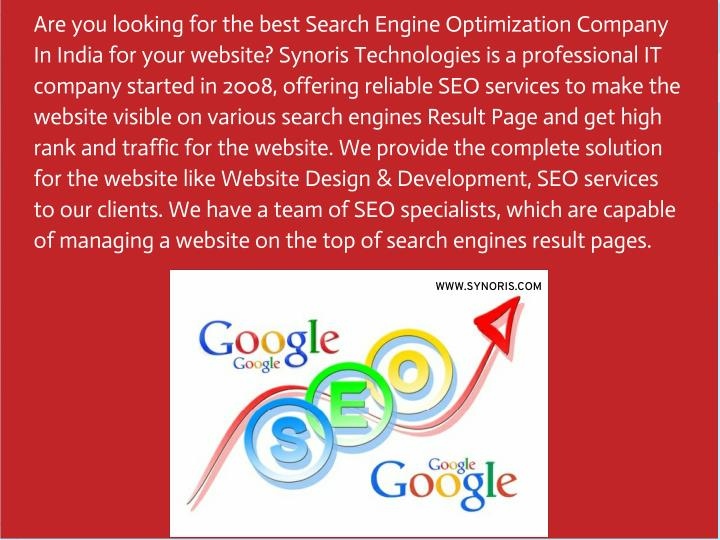 Are you looking for the best Search Engine Optimization Company