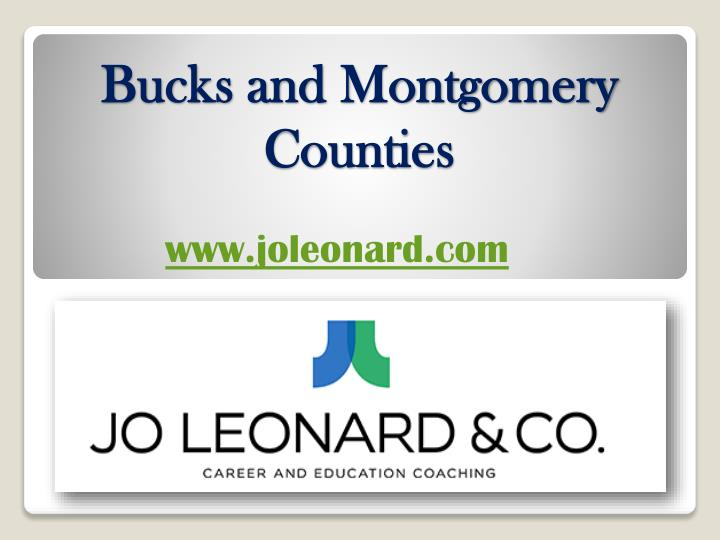 Bucks and montgomery counties