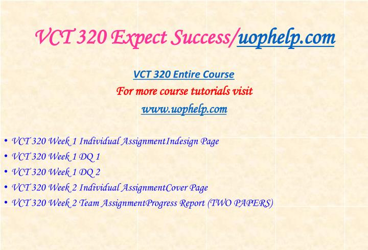 Vct 320 expect success uophelp com1