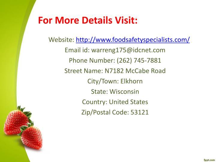 For More Details Visit: