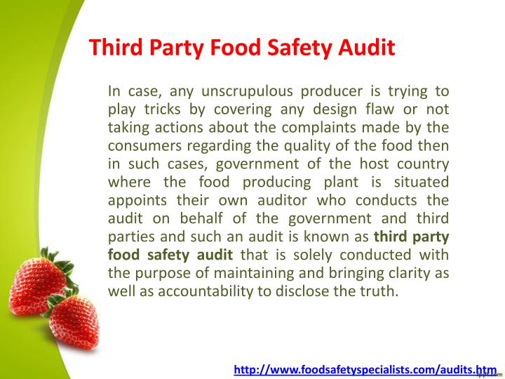 Third Party Food Safety Audit